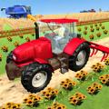 现代拖拉机耕作
