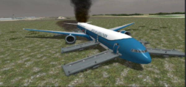 模拟飞机失事截图