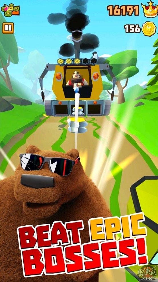 棕熊森林跑酷