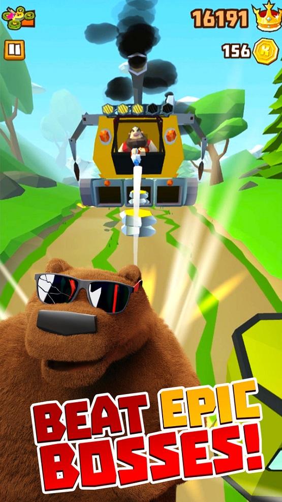 棕熊森林跑酷截图