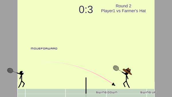 火柴人打羽毛球截图