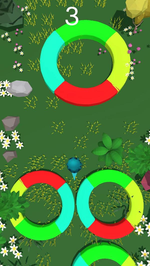 彩色圆圈截图