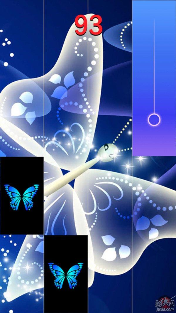 蓝蝴蝶钢琴块