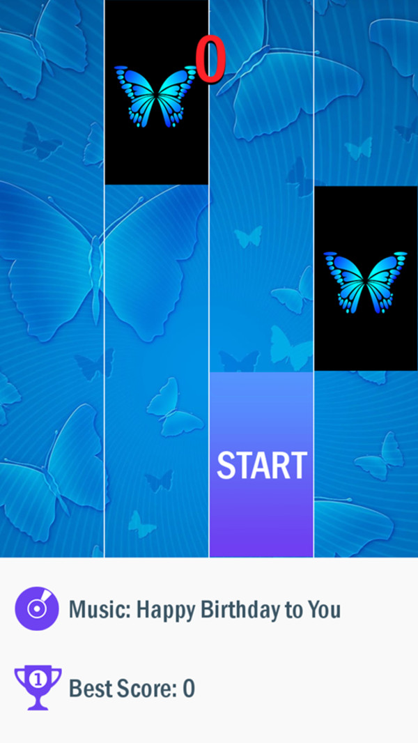蓝蝴蝶钢琴块截图