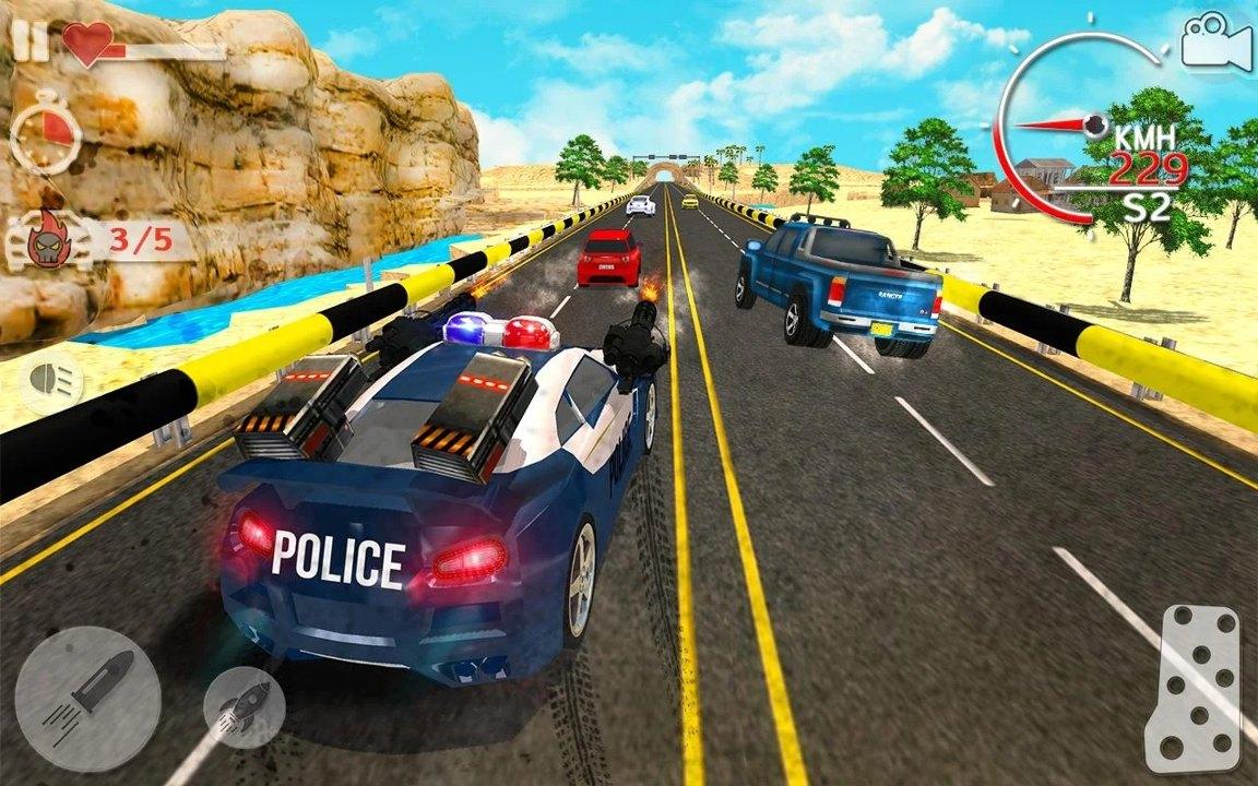 警车追匪截图