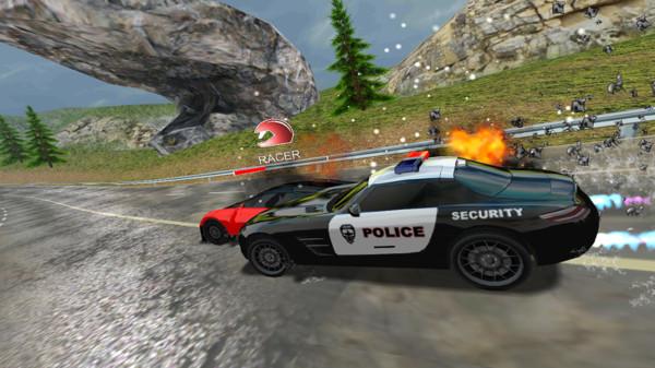 跑车和警察截图