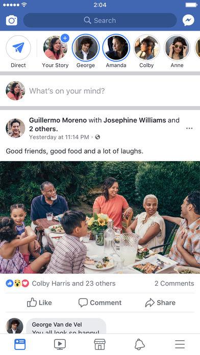 Facebook截图