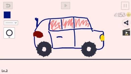 画汽车截图