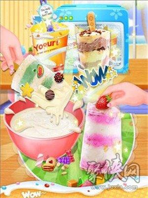 彩虹杯形蛋糕