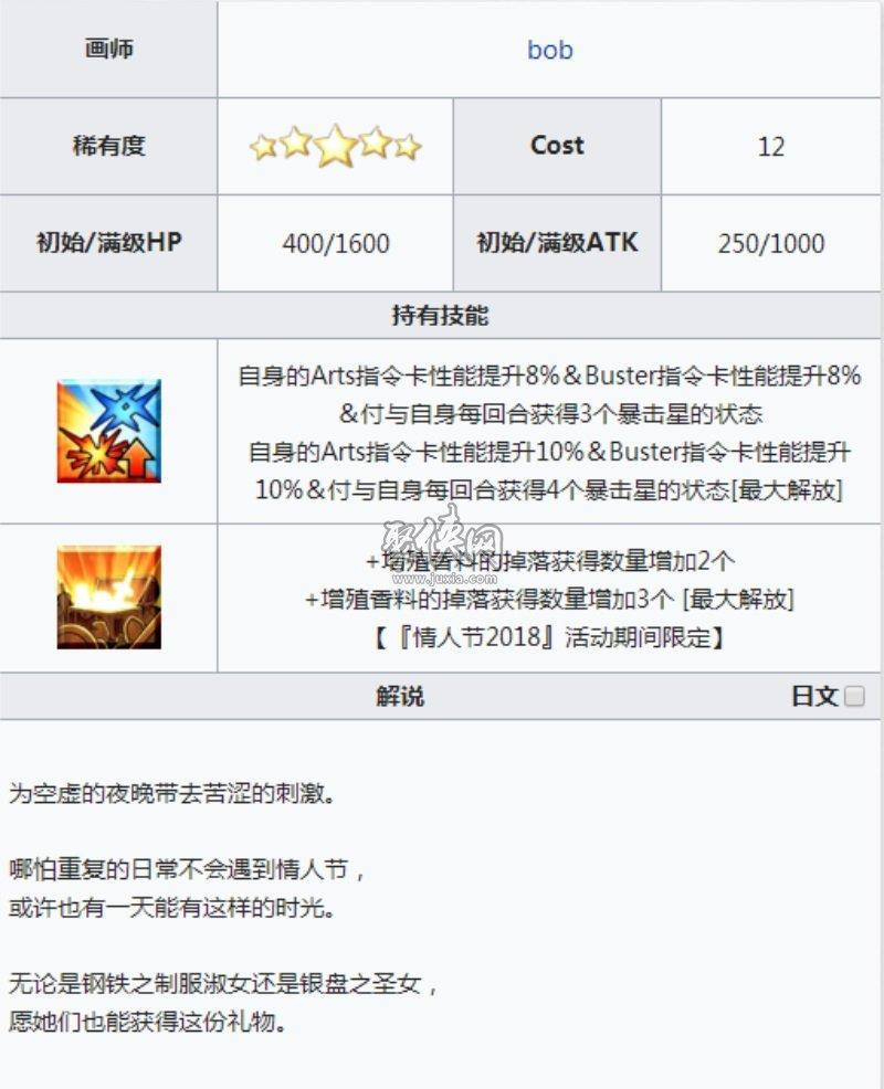 fgo五星礼装甜蜜之日介绍!