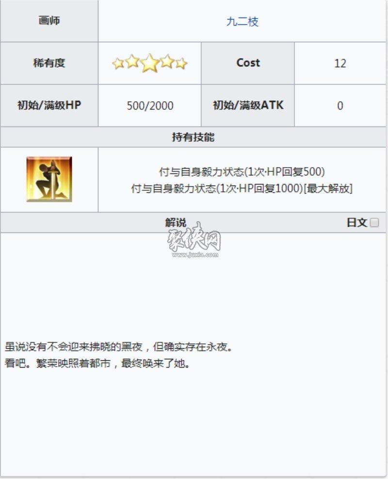 fgo五星礼装不夜蔷薇介绍!