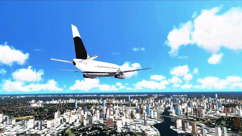 三维城市飞行截图