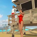 海滩救生员救援