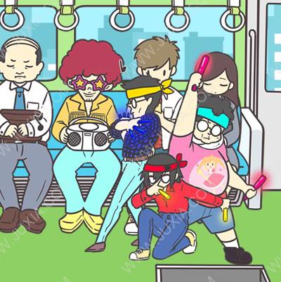 地铁上抢座是绝对不可能的第六关过关攻略