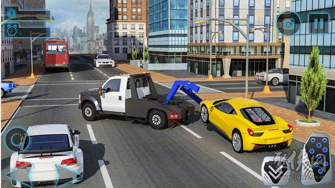 汽车运输者拖卡车