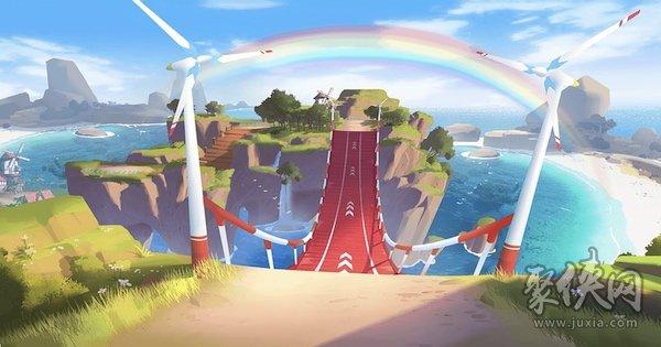 qq飞车反向彩虹风车岛地图攻略详情介绍