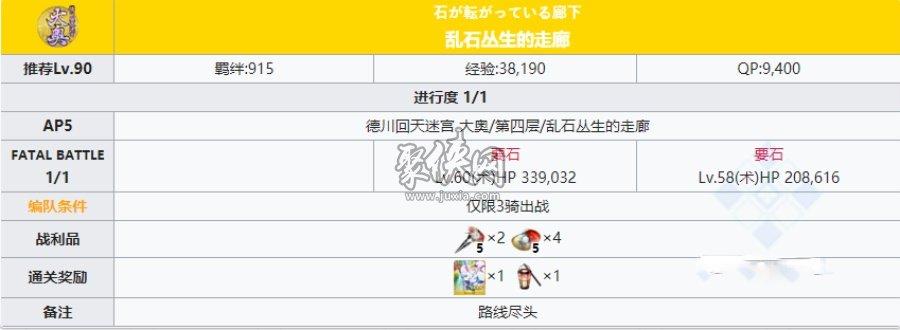 fgo大奥活动迷宫第四层副本配置一览!
