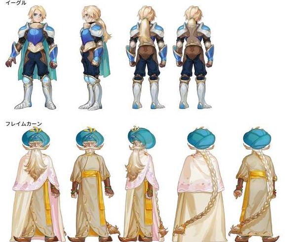 圣剑传说3重置版角色设定图什么样 角色设计图一览