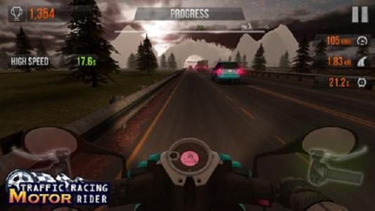 公路赛车摩托骑手截图