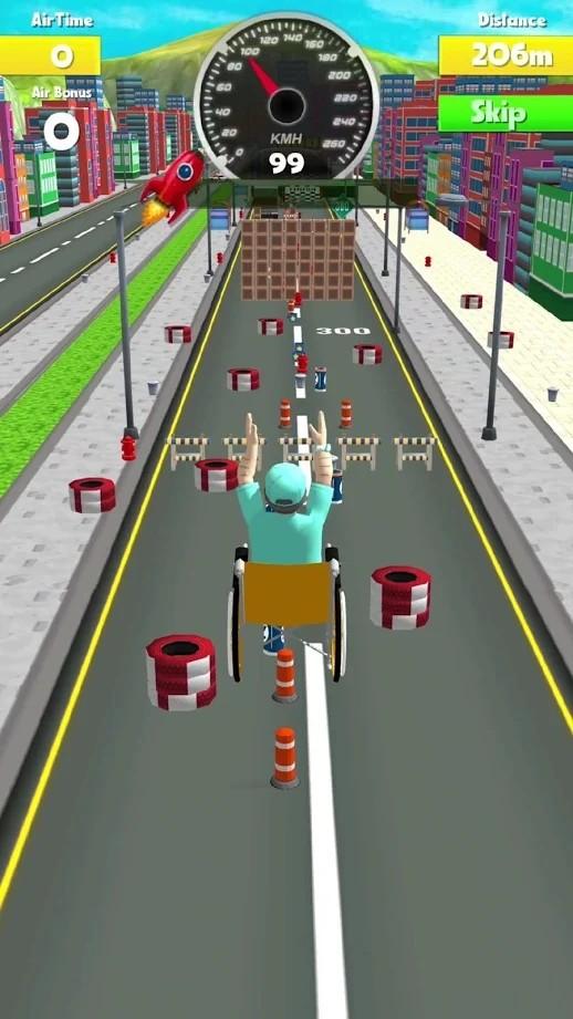 疯狂轮椅特技3D截图