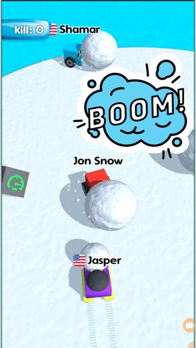 方块人滚雪球截图