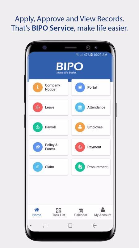 BIPO HRMS截图