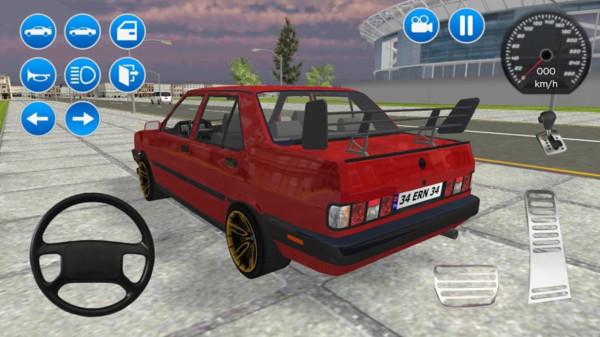 红色轿车模拟器截图
