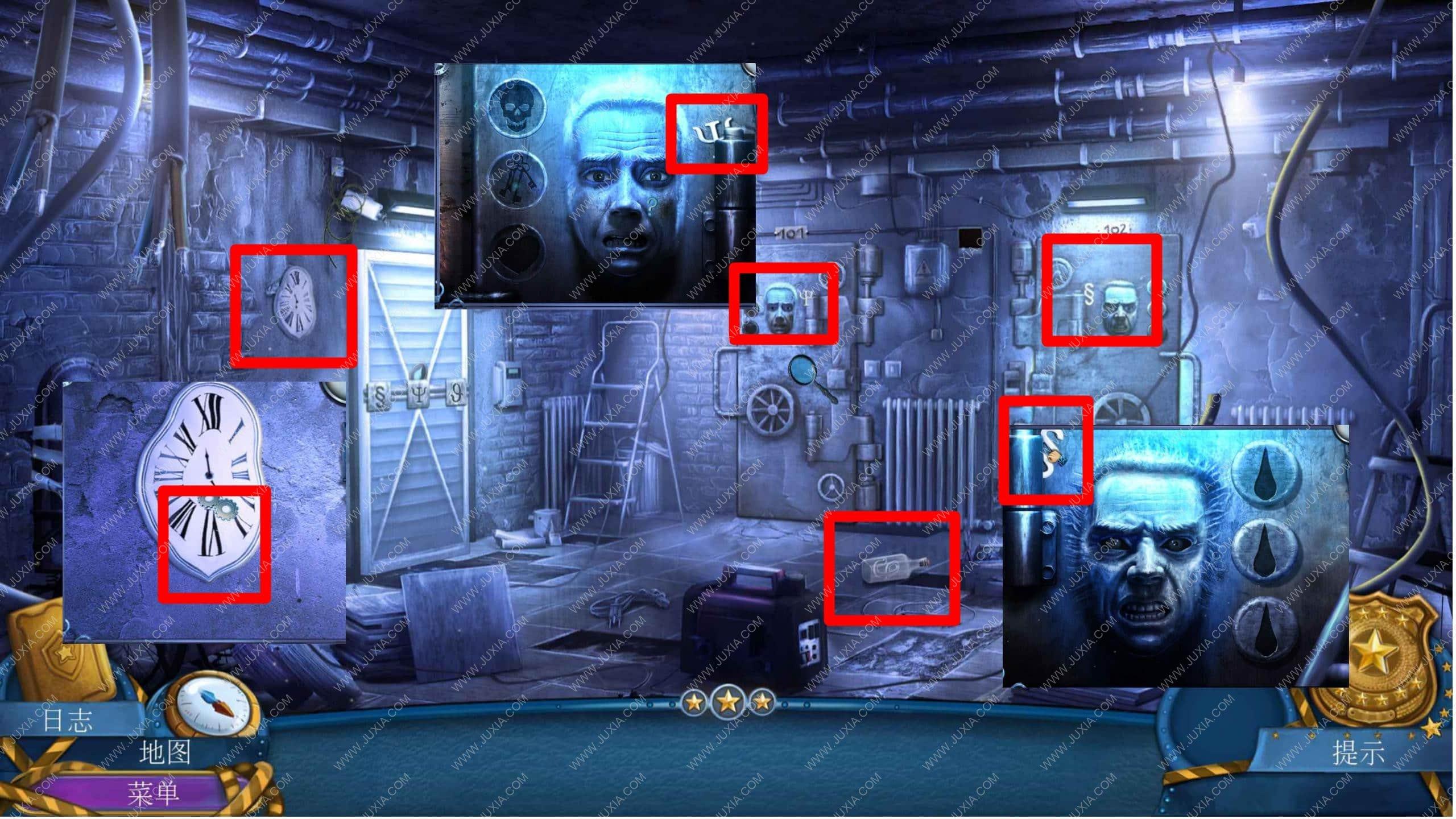 密室逃脱滚动迷城攻略第六章 幽灵档案罪恶的面孔攻略元素徽章