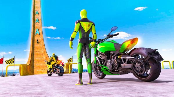 超级英雄自行车特技GT赛车截图