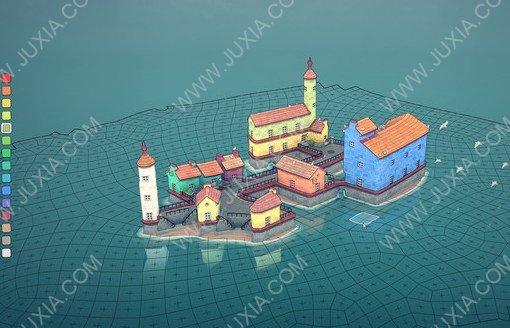 画风文艺Townscaper上线Steam 让人恬静的建造游戏