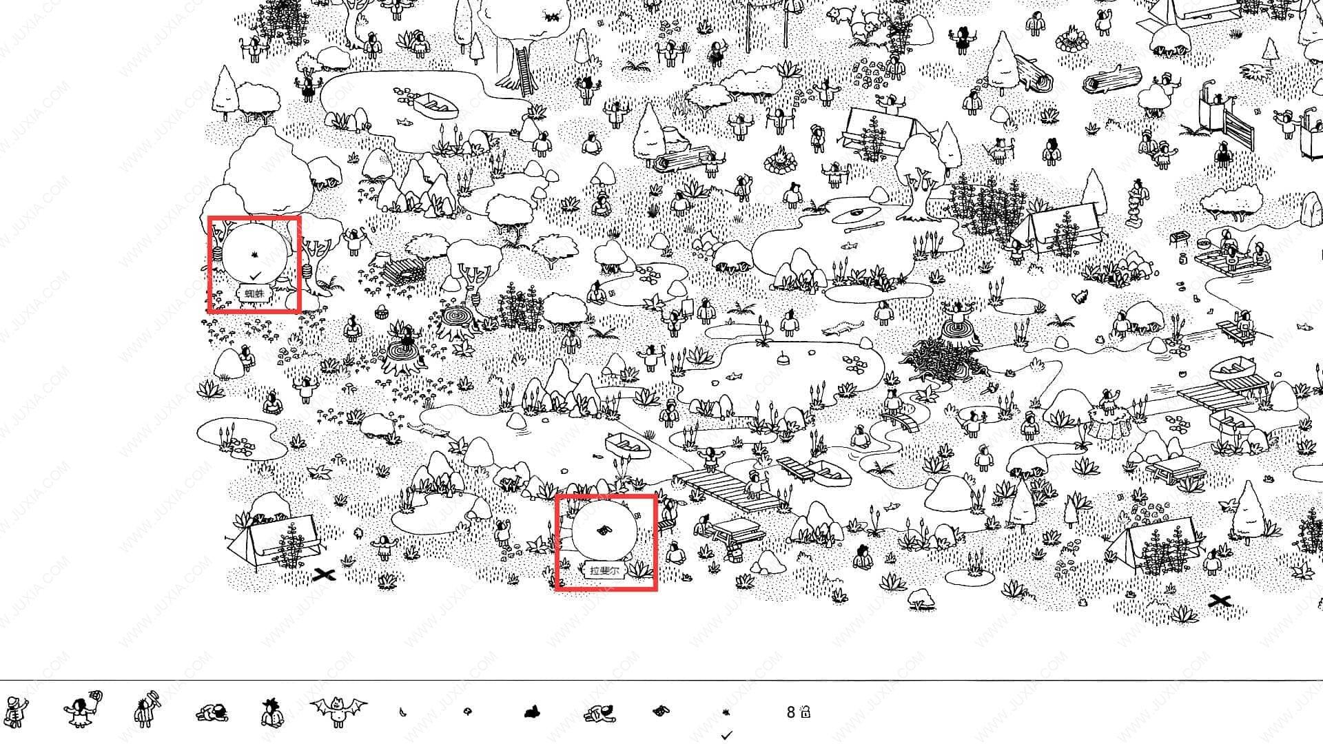 隐藏的家伙攻略图文森林第5关 HiddenFolks图文攻略森林第五关