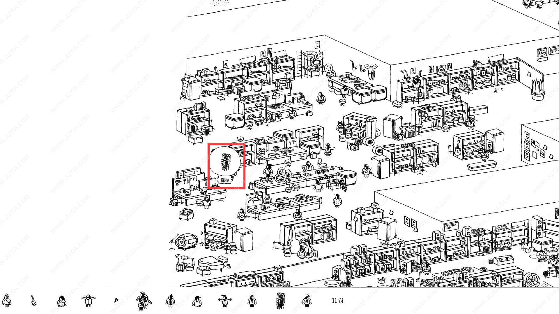 隐藏的家伙攻略巡回演出第2关 HiddenFolks图文攻略巡回演出第二关
