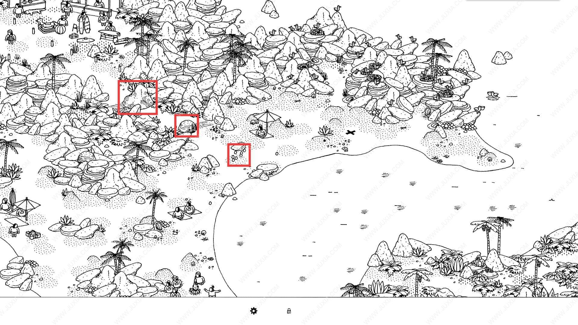 隐藏的家伙海滩攻略3 HiddenFolks图文攻略海滩第三关
