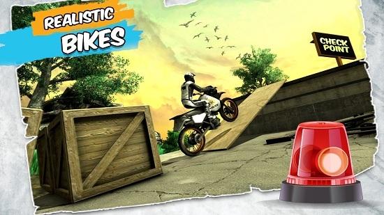 摩托车特技骑手截图