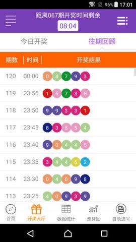 台湾福彩全年开奖记录开奖结果截图