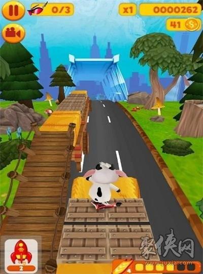 萝拉牛奔向农场
