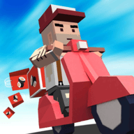 摩托骑士速递员