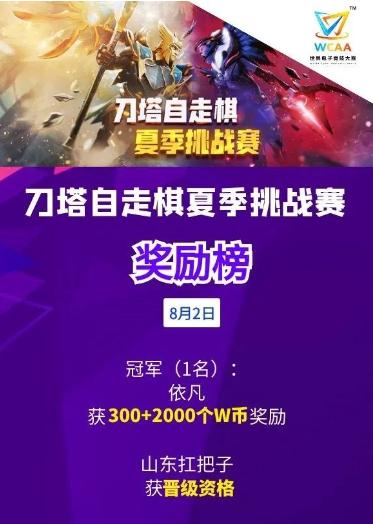 WCAA:首个刀塔自走棋夏季挑战赛晋级名额产生