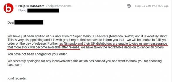 任天堂没货了 零售商取消马里奥3D全明星预定