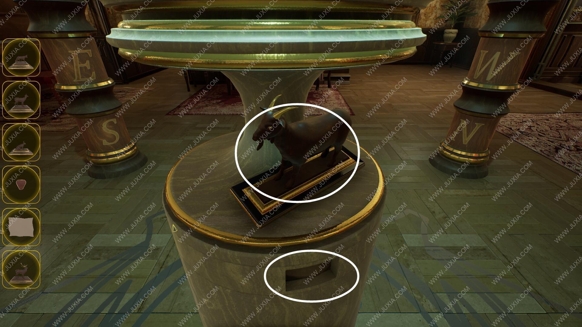GordianRooms攻略休息室下 Acuriousheritage雕像怎么收集