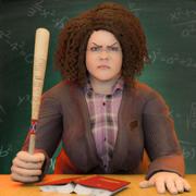 邪恶的老师3d