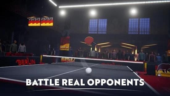 激烈乒乓球