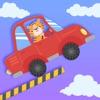 设计积木车跳跃模拟
