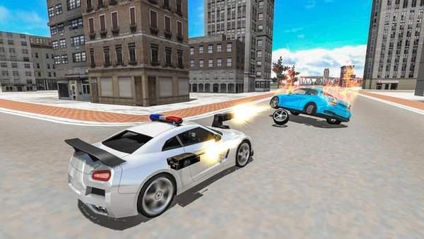 驾驶警车射击截图