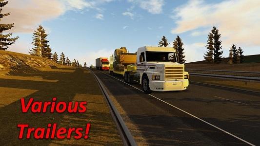 大卡车道路模拟驾驶截图