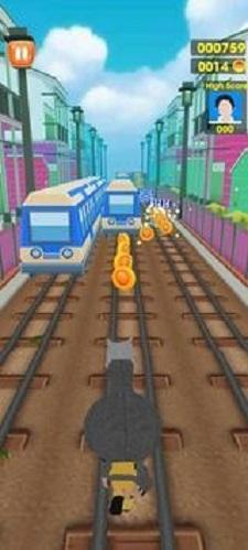 地铁无尽的冲浪奔跑截图