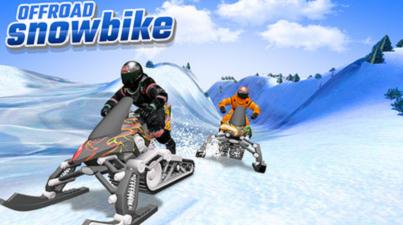 雪地摩托车赛截图