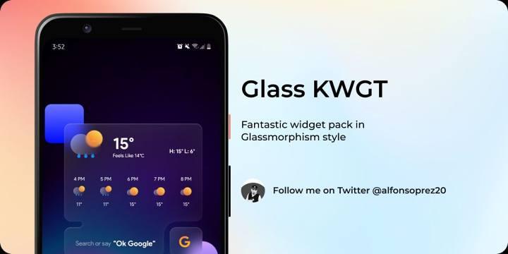 Glass KWGT截图