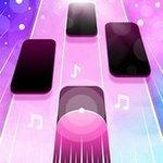 粉红色的钢琴键