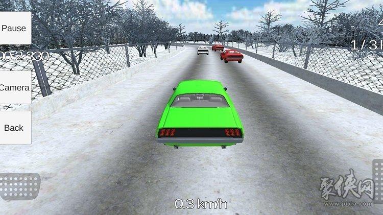 高速公路赛车肌肉车